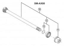 Shimano - Oś piasty Saint FH-M810/FH-M815