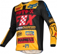 FOX - Jersey 180 Czar Black Yellow Junior