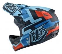 Troy Lee Designs Kask D3 Speedcode Blue Black
