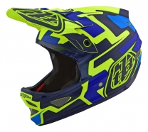 Troy Lee Designs - Kask D3 Speedcode Yellow Blue