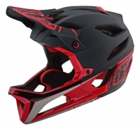 Troy Lee Designs - Kask Stage Stealth Black Red MIPS®