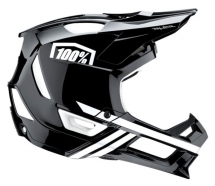 100% - Kask Trajecta Black White