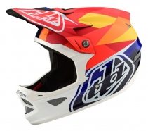 Troy Lee Designs - Kask D3 Carbon Jet Orange Navy CF MIPS