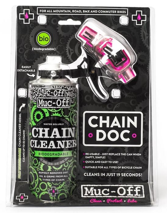 Muc-Off Maszyna do czyszczenia łańcucha Chain Doc + odtłuszczacz