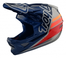 Troy Lee Designs - Kask D3 Silhouette Navy Silver
