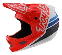 Troy Lee Designs - Kask D3 Silhouette Red Whyte