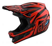 Troy Lee Designs - Kask D4 Slash Black Orange MIPS®