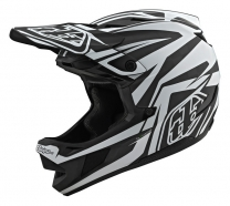 Troy Lee Designs - Kask D4 CF Slash Black White