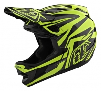 Troy Lee Designs - Kask D4 CF Slash Black Yellow
