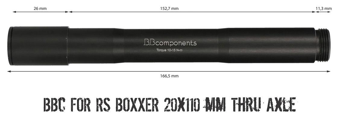 BB Components Oś do Rock Shox BoXXer 20mm