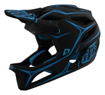 Troy Lee Designs - Kask Stage Pinstripe Black Cyan MIPS®