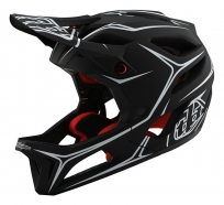 Troy Lee Designs - Kask Stage Pinstripe Black White MIPS®