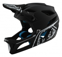 Troy Lee Designs - Kask Stage Stealth Black Silver MIPS®