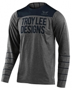 Troy Lee Designs - Jersey Skyline Pinstripe Heather Gray Navy