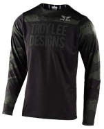 Troy Lee Designs - Jersey Skyline Pinstripe Camo Green Black