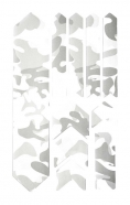 AMS Naklejki ochronne XL Honeycomb Frame Guard