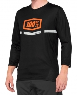 100% - Jersey AirMatic 3/4 Sleeve Black Orange