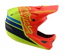 Troy Lee Designs Kask D3 Silhouette Orange Yellow