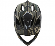 Troy Lee Designs Kask Stage Stealth Ropo Green Gold MIPS®