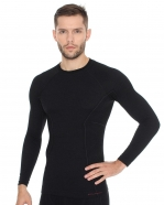 Brubeck - Koszulka męska Active Wool długi rękaw