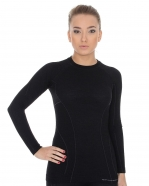 Brubeck - Koszulka damska Active Wool długi rękaw