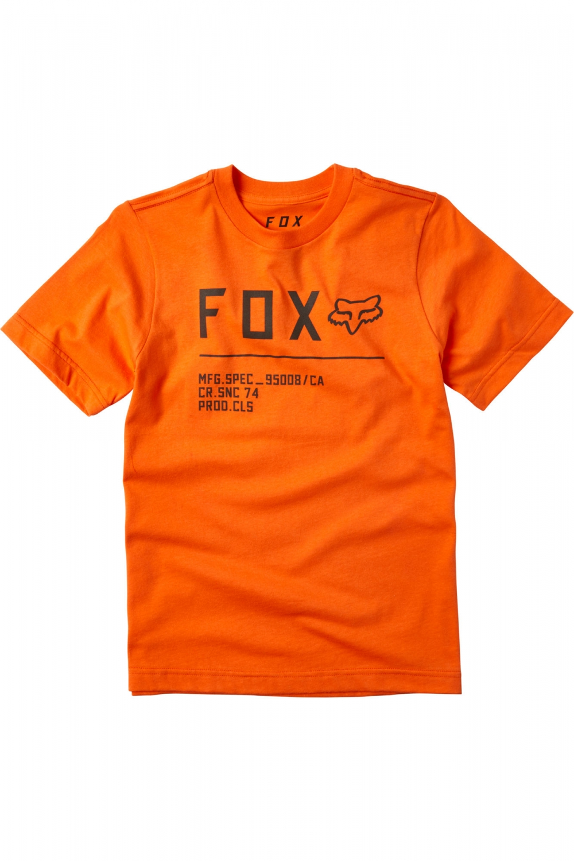 FOX T-shirt Non Stop Orange Flame Junior