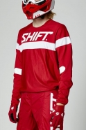 Shift - Jersey White Label Haut Red