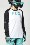 FOX - Jersey Defend LS White/Black Lady