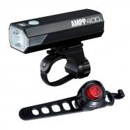 Cateye - Zestaw lampek AMPP400 HL-EL084RC / SL-LD160 ORB