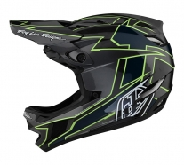 Troy Lee Designs - Kask D4 CF Graph Gray/Green