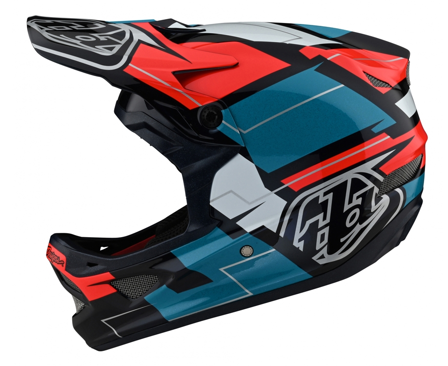 Troy Lee Designs Kask D3 Vertigo Blue Red