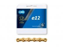 KMC - Łańcuch e12 Ti-N Gold do napędów rowerów elektrycznych