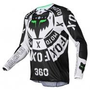 FOX - Jersey 360 Nobyl Black/White