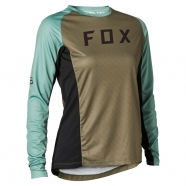 FOX - Jersey Defend LS Olive Green Lady