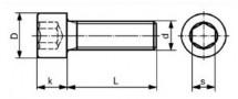 A2Z Śruba tytanowa M6x14,5