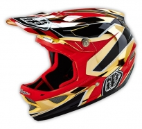 Troy Lee Designs - Kask D3 Reflex Gold Chrome [2016]