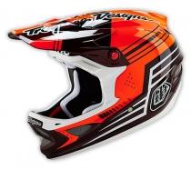 Troy Lee Designs - Kask D3 Berzerk Carbon Red