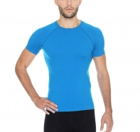 Brubeck - Koszulka męska Active Wool krótki rękaw