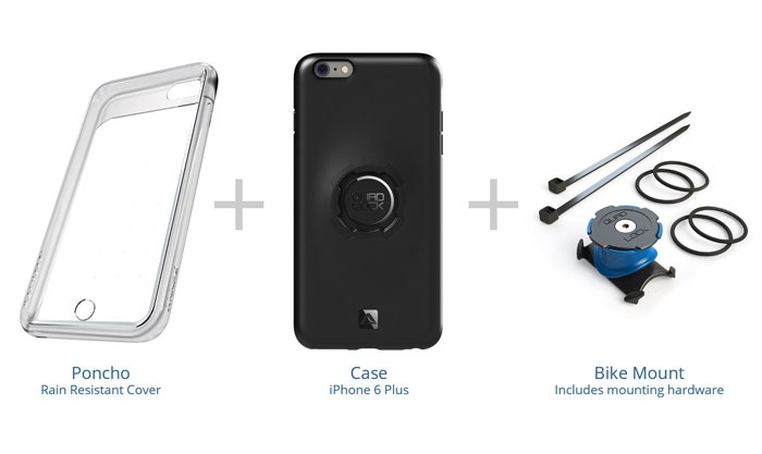 Quadlock Uchwyt rowerowy z etui dla iPhone 6 Plus / 6S Plus