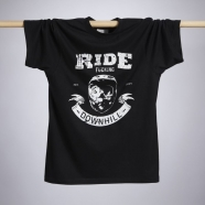 Reverse - T-shirt Ride F**K Downhill