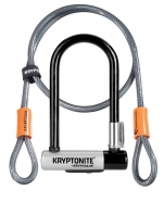Kryptonite - Zapięcie rowerowe Kryptolok Mini 7 + Kryptoflex Cable