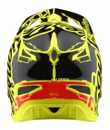 Troy Lee Designs Kask D3 Factory Neon Yellow