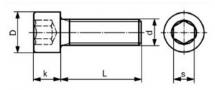 A2Z Śruba tytanowa M6x18